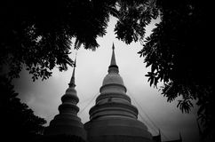 Wat phra sing black and white Royalty Free Stock Photos