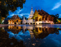 Wat Phra Sing, Chiang Mai, Thailand. At twilight time Royalty Free Stock Photo