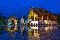 Wat Phra Sing Famous Temple di Chiang Mai, Thailan Fotografie Stock