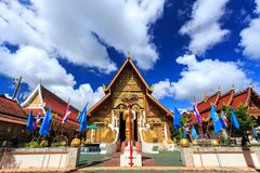 Wat Phra Sing temple in Chiang Rai, Thailand Royalty Free Stock Photos
