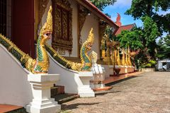 Wat Phra Sing temple in Chiang Rai, Thailand Royalty Free Stock Photography
