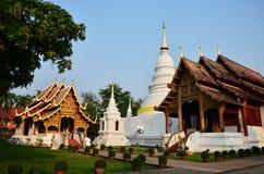 Wat Phra Sing Waramahavihan at Chiang Mai Thailand. Wat Phra Singh (full name: Wat Phra Singh Woramahaviharn - Thai alphabet Stock Images