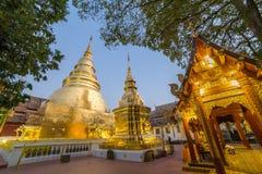 Wat-phra Singh in Chiang Mai Stockfotos