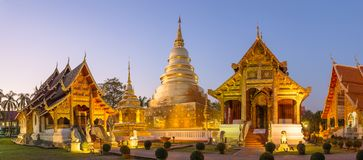 Wat Phra Singh in Chiang Mai Royalty Free Stock Photos