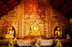 Wat Phra Singh. Detail of the temple Wat Phra Singh in Chiang Mai Stock Image