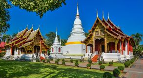 Wat Phra Singh. Is located in the western part of the old city center of Chiang Mai,Thailand royalty free stock photos