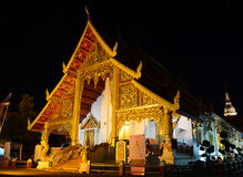 Wat Phra Singh At Night Stock Fotografie