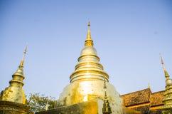 Wat Phra Singh Woramahaviharn. Buddhist temple in Chiang Mai, Thailand. Wat Phra Singh is perhaps the second most venerated temple in Chiang Mai after Wat Phra Royalty Free Stock Photos