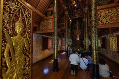 Wat Phra Singh Raja w Chiang Raja w Tajlandia Zdjęcia Stock