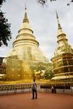 Wat Phra Singh-Tempel in Chiang Mai stockfoto