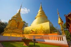 Wat Phra Singh Tempel, Chiang Mai, Thailand stockbilder