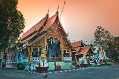 Wat Phra Singh temple in Chiang Mai, Thailand Stock Photos