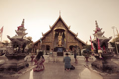 Wat Phra Singh temple Royalty Free Stock Photography