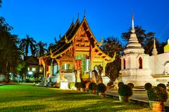 Wat Phra Singh temple in Chiang Mai, Thailand Stock Photo