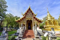 Wat Phra Singh Temple in Chiang Mai, Thailand royalty free stock images