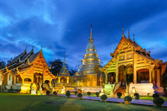 Wat Phra Singh temple in Chiang Mai ,Thailand, Royalty Free Stock Images