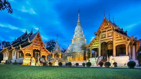 Wat Phra Singh temple ,Chiangmai Thailand. (dolly shot) stock video footage