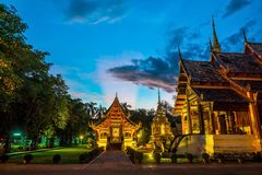 Wat Phra Singh temple in the old town center of Chiang Mai. Thailand royalty free stock photography