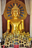 Golden Buddha Statue at Wat Phra Singh Royalty Free Stock Photo