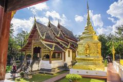 Wat Phra Singh Waramahavihan, Chiang Mai, Tailandia fotografie stock