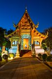 Wat Phra Singh Woramahaviharn in Chiang Mai Royalty Free Stock Photography