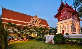 Wat Phra Singh Woramahaviharn in Chiang Mai Stock Photography