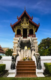 Wat Phra Singh Woramahaviharn in Chiangmai Royalty Free Stock Photos