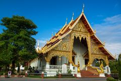 Wat Phra Singh Woramahaviharn temple Stock Photos