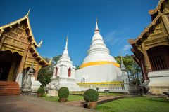 Wat Phra Singh Woramahaviharn temple in Chiang Mai Royalty Free Stock Photo