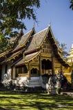 Wat Phra Singh Woramahaviharn Templo budista em Chiang Mai, Tailândia foto de stock