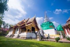 Wat Phra Singh Woramahaviharn, templo em Tailândia Fotografia de Stock Royalty Free