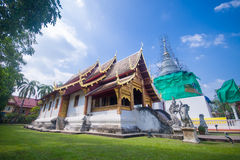 Wat Phra Singh Woramahaviharn, templo em Tailândia Imagem de Stock