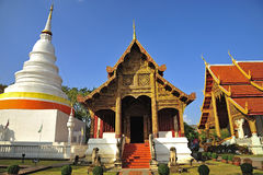 Wat Phra Singha, templo tailandês do lanna na província Thailan de Chiangmai Foto de Stock