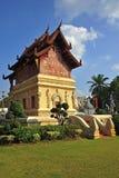 Wat Phra Singha, templo tailandês do lanna na província Thailan de Chiangmai Fotografia de Stock