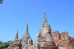 Wat Phra SiSanphet Ayuthaya, Tajlandia obraz stock