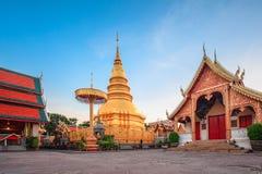 Wat phra som hariphunchai Royaltyfri Foto