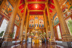 Wat Phra Sri Arn interior Royalty Free Stock Images