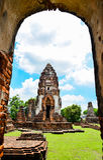 Wat Phra Sri Rattana Mahathat. In lopburi Thailand Royalty Free Stock Photo