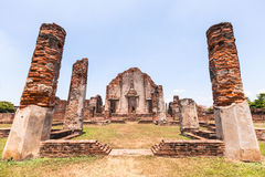 Wat Phra Sri Rattana Mahathat Historical park. In lopburi Thailand Stock Photography