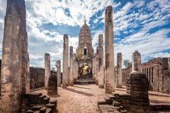 Wat Phra Sri Rattana Mahathat in Si Satchanalai historical park Stock Photo