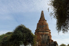 Wat Phra Sri Sanpetch Temple in Ayutthaya Lizenzfreies Stockbild