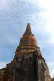 Wat Phra Sri Sanpetch Temple in Ayutthaya. The ruins of Wat Phra Sri Sanpetch Temple in Ayutthaya stock image