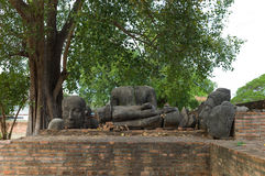 Wat Phra Sri Sanpetch Temple in Ayutthaya. The ruins of Buddha statues, Wat Phra Sri Sanpetch Temple in Ayutthaya Stock Photography