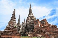 wat Phra sri sanphet寺庙的塔 图库摄影