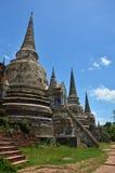 Wat Phra Sri Sanphet al parco storico Tailandia di Ayutthaya Fotografie Stock