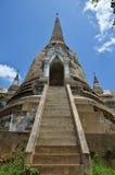Wat Phra Sri Sanphet al parco storico Tailandia di Ayutthaya Fotografia Stock