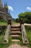 Wat Phra Sri Sanphet al parco storico Tailandia di Ayutthaya Immagini Stock Libere da Diritti