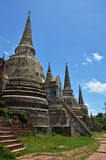 Wat Phra Sri Sanphet au parc historique Thaïlande d'Ayutthaya Photos stock