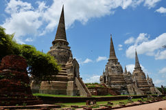 Wat Phra Sri Sanphet at Ayutthaya Historical Park Thailand Royalty Free Stock Photos