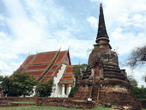Wat Phra Sri Sanphet, Ayutthaya, Tailândia Foto de Stock Royalty Free